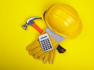 Hat, Hammer, Calculator, Gloves
